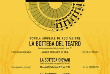 Settembre / Ottobre – La bottega del teatro 2019/2020